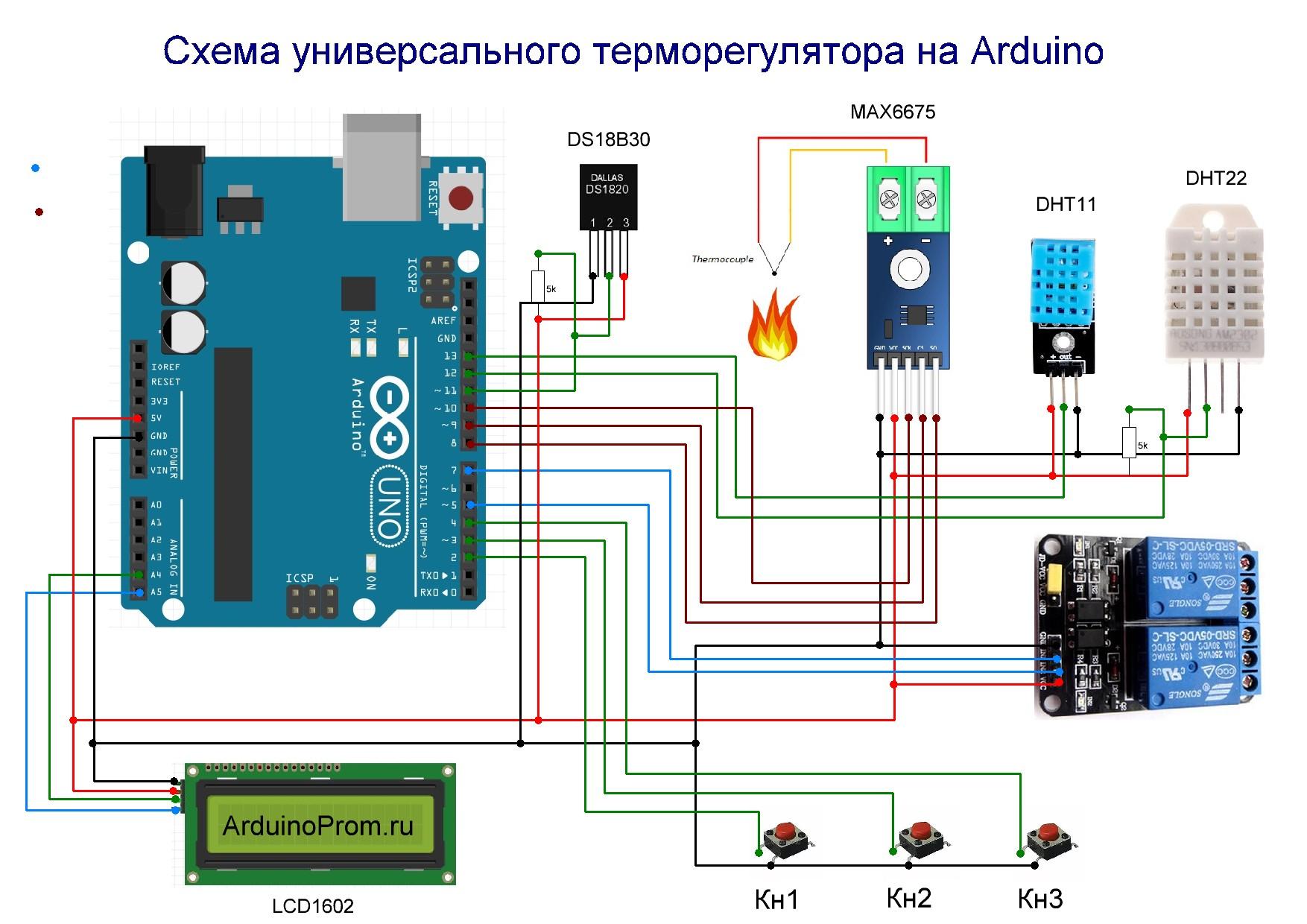 Терморегулятор на ардуино своими руками 161