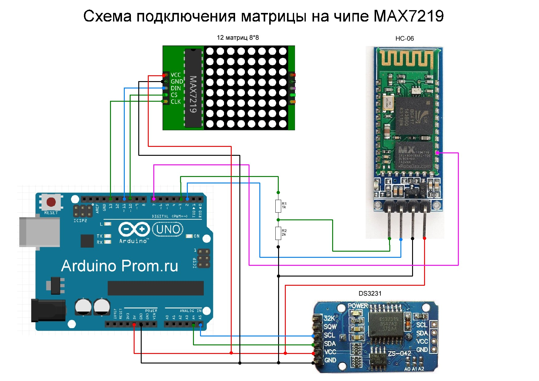 Плата arduino схема подключения
