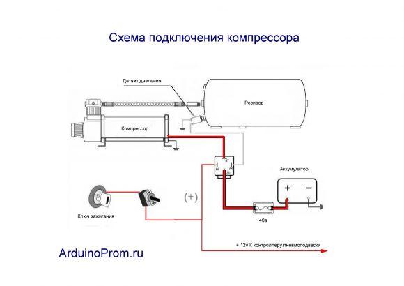 схема подключения компрессор ско 200